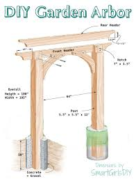 you can build this diy garden arbor thanks to plans from the family handyman it s big but not difficult only 6 pieces of wood total build it yourself