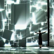 design of lighting. the seoulbased multimedia collaboration presented us premiere of their immersive performance synthesizing interactive dance with opulent video design lighting r