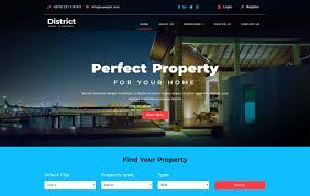 District - Real Estates Category Bootstrap Responsive Web Template ...