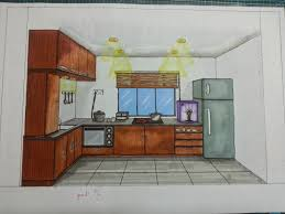 kitchen 1 point perspective. the boring mona kitchen 1 point perspective