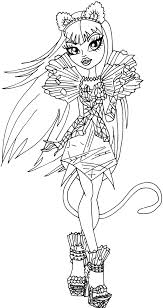 Small Picture Monster high coloring pages catty noir ColoringStar