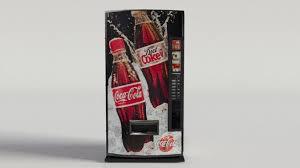 Coca Cola Vending Machine Models Gorgeous CocaCola Vending Machine48 48D Model CGTrader
