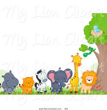 baby animal clipart borders. Contemporary Animal Zoo Animal Border Clipart Svg Free Intended Baby Borders Y