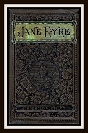 vine book cover jane eyre published circa 1900 by charlotte bronte giclee art print on canvas via etsy