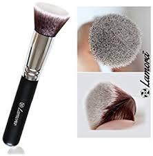 foundation makeup brush flat top kabuki for face perfect for blending liquid cream or