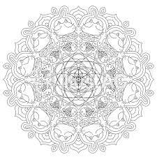 猫の曼荼羅塗り絵イラスト No 628252無料イラストならイラストac