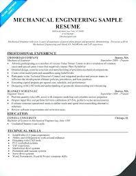 Civil Engineering Sample Resumes Entry Level Engineer Resume For Mesmerizing Mechanical Fresher Resume Format