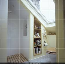 Compact Showers velux window above toilet in small attic bathroom with open shower 4015 by uwakikaiketsu.us