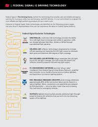 Federal Signal Solaris Light Bar Federal Signal 2017 Work Truck Catalog