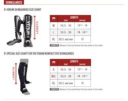 Venum Shinguard Size Chart Fightwear Test Com