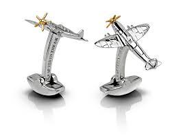 spitfire cufflinks. spitfire cufflinks in sterling silver image 1 i
