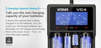 <b>XTAR VC4</b> Универсальный USB Батарея <b>Зарядное устройство</b> ...