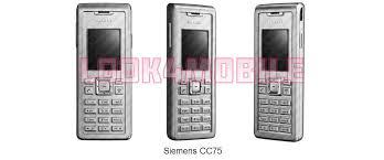 Siemens CC75 - features, technical ...
