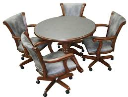attractive dining room table and chairs with wheels with kitchen chairs wheels