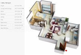 1bhk 1t 3 super area 760 sq ft apartment
