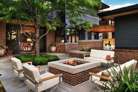 delightful backyard with gas fire pit
