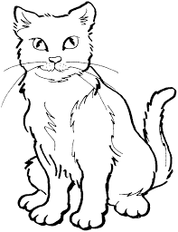 Cat 7 coloring page from cats category. Animal Coloring Pages Cat Coloring Page Cat Colors Cute Coloring Pages