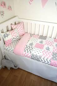 pink and grey elephant baby bedding full size of nursery baby girl bedding baby night owl
