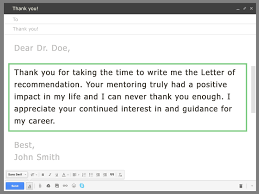Ask Your Professor For A Letter Of Recommendation Via Email Grad