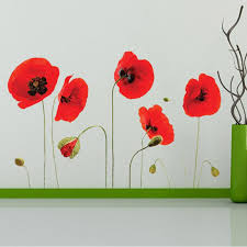 red flowers wall art mural decor sticker removable red tulip wall applique home decor art poster border decal buy wall sticker buy wall stickers from  on red poppy flower wall art with red flowers wall art mural decor sticker removable red tulip wall