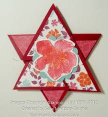 Lilys Ink Pad Star Fold Card With Tutorial