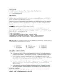 Objectives Examples For Resume A Sample Of Resume For Job Career ...