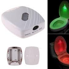 Details About Bathroom Wc Motion Sensor Toilet Bowl Night Light Auto Onoff Led Seat Lamp