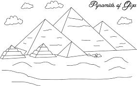 Pyramid Coloring Page Nip Laceaorg
