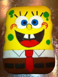 Another Great Birthday Cake Photo Spongebob Squarepants Colour