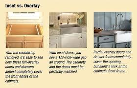 kitchen cabinets inset doors inset vs overlay