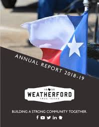 City Of Weatherford Annual Report 2018 19 By City Of