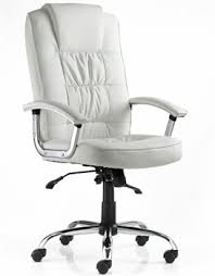 office chair white leather. alice white leather office chair s
