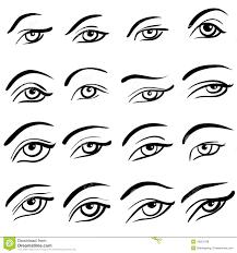 Eye Designs Set Of 16 Eye Designs Stock Vector Illustration Of Open