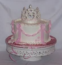 A Simple Princess Cake With Buttercream Icing Fondant Decorations