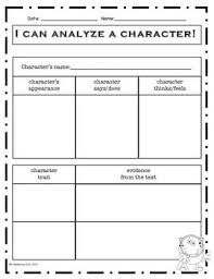 best character traits in reading images character analysis graphic organizers i love that there s a space for text evidence at