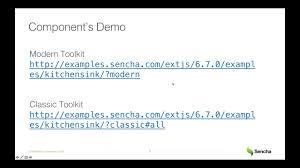 sencha ext js weekly demo