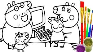 Small Picture How to Draw Peppa Pig Family Computer Coloring Pages Kid Drawing