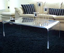 Waterfall Lucite Coffee Table Decoration Ideas