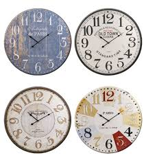 large 62cm metal wall clock french