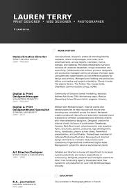 Owner/Creative Director Resume samples