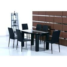glass dining table set black glass dining table set tempered with 6 faux leather chairs idea