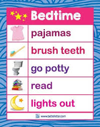 Bedtime Chart For Adults Bedtime Chart Pink