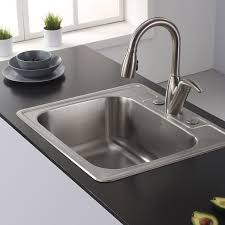 Elkay Crosstown DropInUndermount Stainless Steel 25 In 1Hole 25 X 22 Kitchen Sink