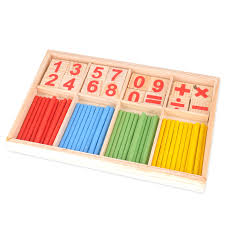 Wooden Math Games Montessori Wooden Number Math Game Mathematical intelligence 58