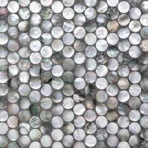 Deep Sea Black Pearl Penny Round Tile