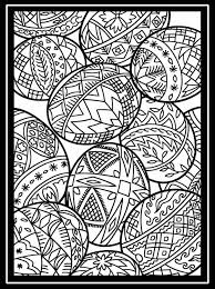 Easter Eggs With Large Border Easter Adult Coloring Pages