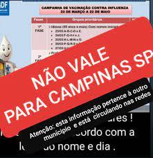 Cronograma de vacinação contra gripe por ordem alfabética é fake em Campinas