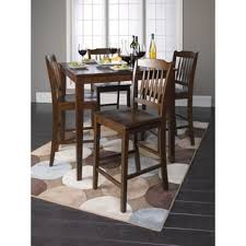 poka 5 pc espresso finish rectangular wood counter height dining set. cappuccino finish wood counter height 5-piece dining set poka 5 pc espresso rectangular r