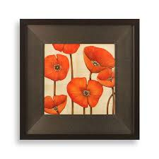 poppy wall art in orange from at bed bath beyond add a pop of color to any wall with this colorful poppy artwork