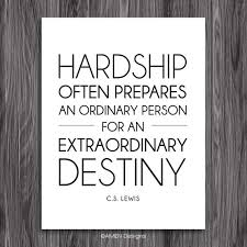 Hardship Quotes Extraordinary Hardship Quote By CS Lewis Printable Inspiration 48x48 DIY Etsy